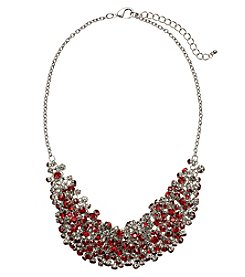 Relativity® Silvertone Frontal Shaky Necklace