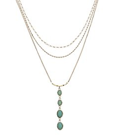Relativity® Goldtone Three Row Layered Necklace
