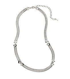 Napier® Silvertone Collar Necklace