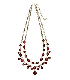 Napier® Red Stone Frontal Necklace