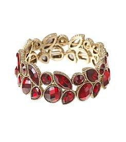Napier® Red Stone Stretch Bracelet
