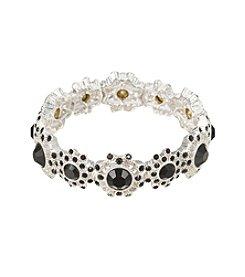 Napier® Black Stone Stretch Bracelet