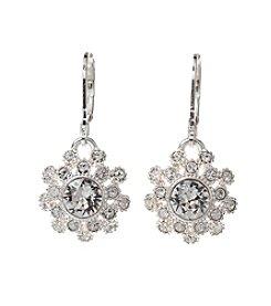 Napier® Silvertone Crystal Earrings