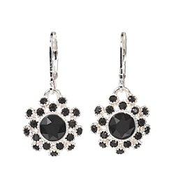 Napier® Black Crystal Drop Earrings