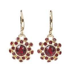 Napier® Red Crystal Drop Earrings