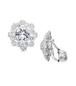 Napier® Crystal Clip Earrings