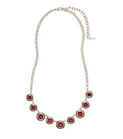Napier® Red Crystal Frontal Necklace
