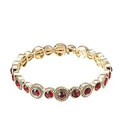 Napier® Red Crystal Stretch Bracelet