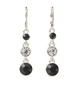 Napier® Black Stone Linear Earrings