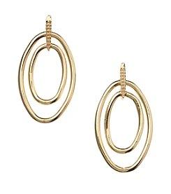 Napier® Goldtone Drop Off Earrings
