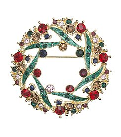 Napier® Boxed Wreath Pin