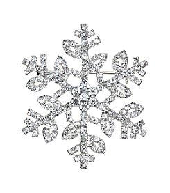 Napier® Boxed Crystal Snowflake Pin