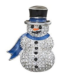 Napier® Boxed Crystal Snowman Pin
