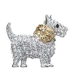 Napier® Boxed Holiday Puppy Pin