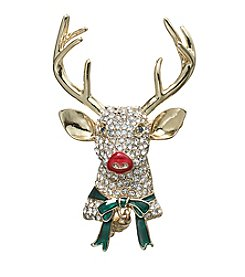 Napier® Boxed Reindeer Pin