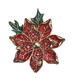 Napier® Boxed Poinsettia Pin