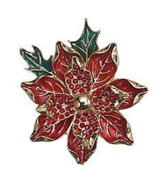 Napier® Boxed Poinsettia Pin