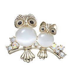 Napier® Boxed Owls Pin