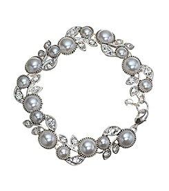 Napier® Boxed Pearl Flower Bracelet