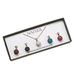 Napier® Boxed Interchangeable Necklace Set
