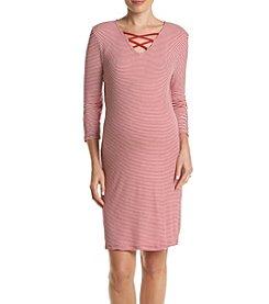 Three Seasons Maternity™ Criss Cross Stripe Dress