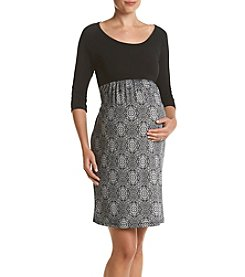 Three Seasons Maternity™ Solid Print Mix Dress