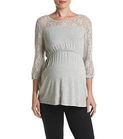Three Seasons Maternity™ Lace Sleeve And Yoke Top