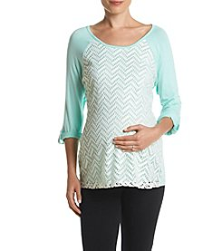 Three Seasons Maternity™ Lace Front Knit Top