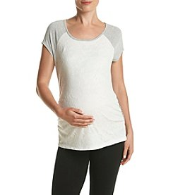 Three Seasons Maternity™ Lace Front Tee