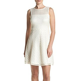 GUESS Stripe Fit And Flare Dress