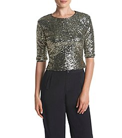 Eliza J® Sequin Top