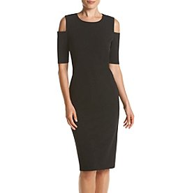 Ronni Nicole® Cold-Shoulder Crepe Dress