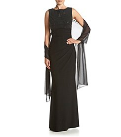 Jessica Howard® Boatneck Long Dress