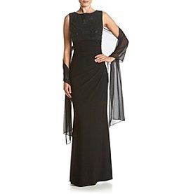 Jessica Howard® Boatneck Long Dress