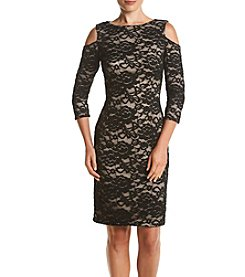 Jessica Howard® Cold Shoulder Lace Dress