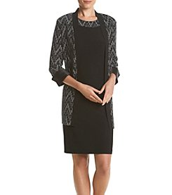 R&M Richards® Lurex Chevron Jacket Dress