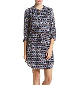 DR2 by Daniel Rainn™ Pleated Shoulder Shirt Dress