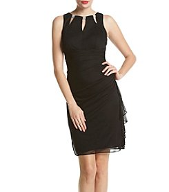 Betsy & Adam® Side Ruff Dress