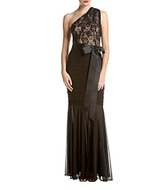 Betsy & Adam® Long Lace Dress