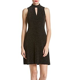 Jessica Simpson Fit And Flare Metallic Dress