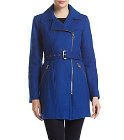 MICHAEL Michael Kors® Belted Asymmetrical Zip Walker Coat