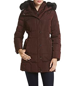 Calvin Klein Faux Fur Hooded Coat