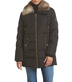 MICHAEL Michael Kors® Quilted Faux Fur Collar Coat