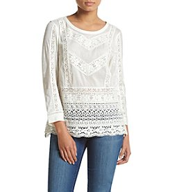 Vintage America Blues™ Embroidered Lace Top