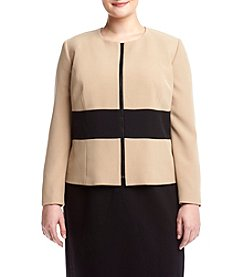 Kasper® Plus Size Color Block Jacket