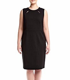 Kasper® Plus Size Cutout Neck Dress