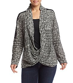 AGB® Plus Size Marled Sweater Cozy