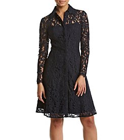 Nanette Nanette Lepore Lace Shirt Dress