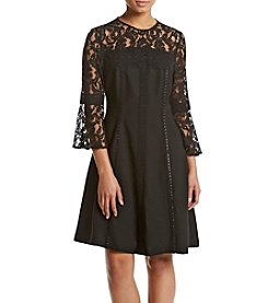 Nanette Nanette Lepore Illusion Lace Sleeve Dress