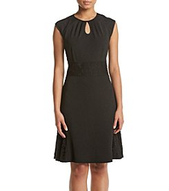 Nanette Nanette Lepore Lace Detail Fit And Flare Dress